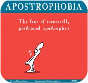 apostrophobia Haroldsplanet.com