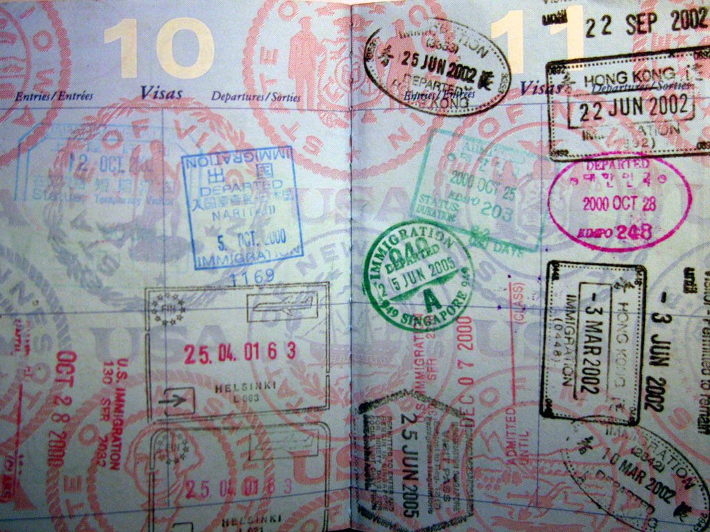 My_collection_of_passport_stamps